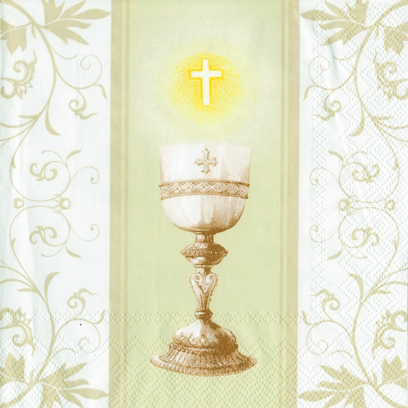 20 servietten 33 x 33 cm communion cream ereignisse kommunion