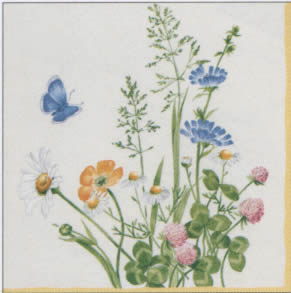 20 napkins - 33 x 33 cm V&B My Garden,  Flowers - other,  Other - porcelain-motives,  Everyday,  lunchnapkins,  Villeroy & Boch My Garden