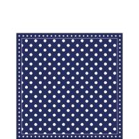 Napkins 25x25 cm - Stripes Dots Blue
