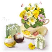 Serviettes 25x25 cm - Tea Surprise