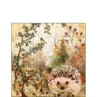 Serviettes 25x25 cm - Autumn Hedgehog