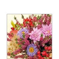 Serviettes 25x25 cm - Autumn Flowers