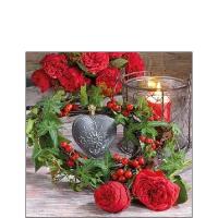 Servietten 25x25 cm - Roses And Ivy