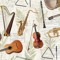 Servilletas 25x25 cm - Music