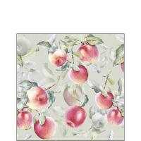 Napkins 25x25 cm - Fresh Apples Green