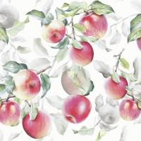Napkins 25x25 cm - Fresh Apples White