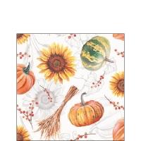 Napkins 25x25 cm - Pumpkins & Sunflowers