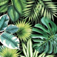 Servilletas 33x33 cm - Tropical Leaves Black