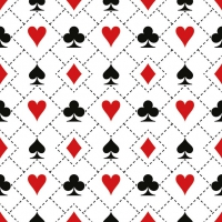 Napkins 33x33 cm - Cards