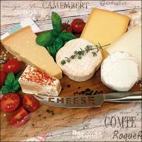 Tovaglioli 33x33 cm - Palette of Cheeses