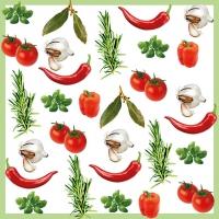 Serviettes 33x33 cm - Italian Vegetables
