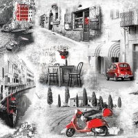 Serwetki 33x33 cm - Italian Streets