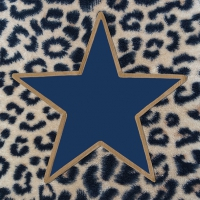 Napkins 33x33 cm - Wildlife Star Blue