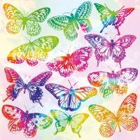 Napkins 33x33 cm - Aquarell Butterflies Mix