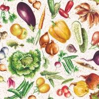 Serviettes 33x33 cm - Vegetables