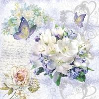 Serviettes 33x33 cm - Flower Love