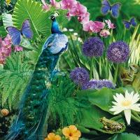 Serviettes 33x33 cm - Blue Peacock