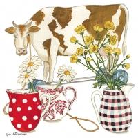 Serviettes 33x33 cm - Cow