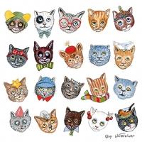 Serviettes 33x33 cm - Funny Cats