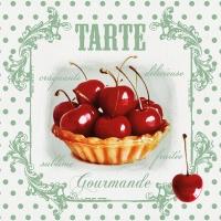 Serviettes 33x33 cm - Tarte Red Cherries