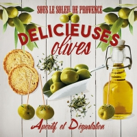 Serviettes 33x33 cm - Delicious Olives