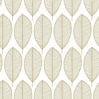 Servietten 33x33 cm - Oval Leaves Gold