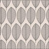 Servietten 33x33 cm - Oval Leaves Grey