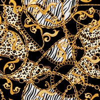Servilletas 33x33 cm - Golden Pattern Black