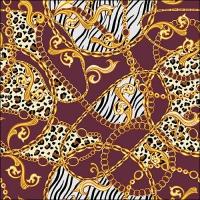 Servilletas 33x33 cm - Golden Pattern Berry