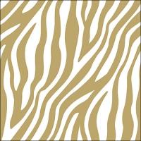 Servilletas 33x33 cm - Zebra Stripes Gold