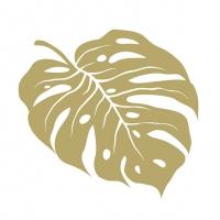Servilletas 33x33 cm - Monstera Gold