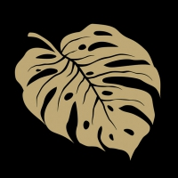 Servilletas 33x33 cm - Monstera Gold/Black