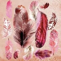 Napkins 33x33 cm - Feather Mix