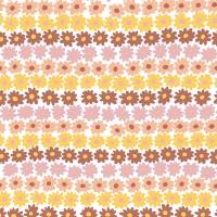 Napkins 33x33 cm - Happy Flowers Brown