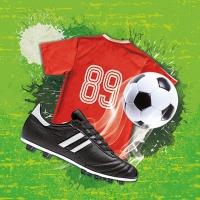 Servilletas 33x33 cm - Soccer