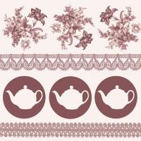 Servilletas 33x33 cm - Teapots Brown