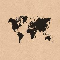 Servilletas 33x33 cm - Recycled World Map