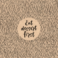 Napkins 33x33 cm - Recycled Eat Dessert First