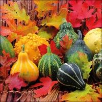 Napkins 33x33 cm - Pumpkins And Leaves