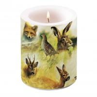 decorative candle - Wild Animals Collage
