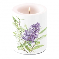 decorative candle - Lilac White