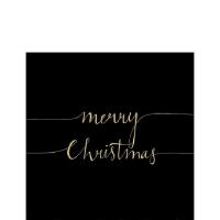 Servilletas 25x25 cm - Christmas Note Black/Gold