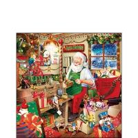 Servilletas 25x25 cm - Santas Workshop