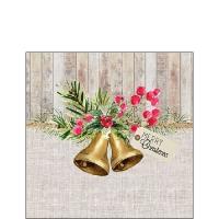 Serwetki 25x25 cm - Christmas Bells
