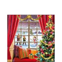 Serwetki 25x25 cm - Christmas Window