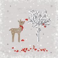 Napkins 25x25 cm - Sniffing Deer