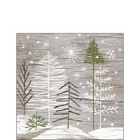 Napkins 25x25 cm - Trees On Wood