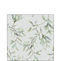 Servietten 25x25 cm - Mistletoe All Over Grey