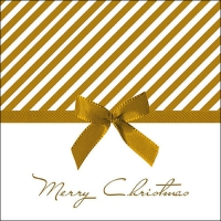Servilletas 33x33 cm - Christmas Bow Gold