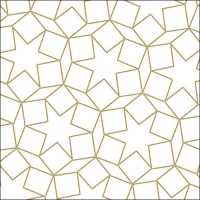 Napkins 33x33 cm - Star Dimensions Gold
